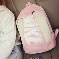 NIKE Casual Sport Laptop Bag Shoulder School Bag Backpack Pink white