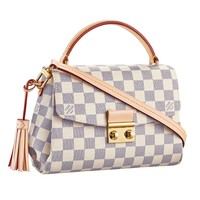 Louis Vuitton Damier Azur Canvas Croisette Hand Carry Shoulder Handbag Article:N41581 Made in France