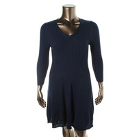 Max Studio Womens Juniors Knit A-Line Sweaterdress
