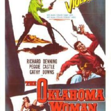 Oklahoma Woman Movie poster Metal Sign Wall Art 8in x 12in