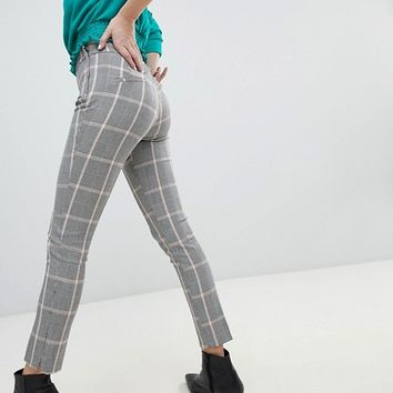 Stradivarius Classic Check PANTS at asos.com