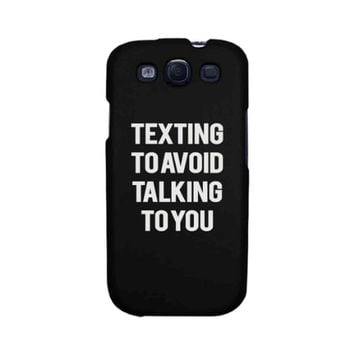 Funny Statement Black Phone Case for iphone 4-6P, Galaxy S4-6, Note 4 LG3, M8