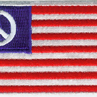 Peace Sign Iron-On Patch American Flag