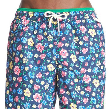 'Floral Traveler' Swim Trunks