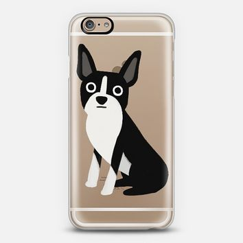 Boston Terrier Dog (Clear) iPhone 6 case by Cassandra Gibbons | Casetify