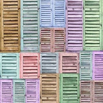 SHUTTERS PASTEL BACKDROP 5x6 - LCPC2276 - LAST CALL