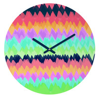Rebecca Allen Easter Wings Round Clock