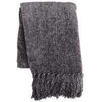 Chenille Throw - Charcoal