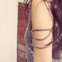 RoseGold Inspired Chain Armlet Slave Bracelet Arm Bracelet Piece Body Jewelry Body Harness Arm Jewerly  Ask a Question