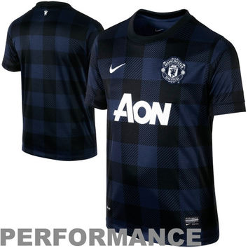Nike Manchester United FC Youth 2013/14 Away Replica Performance Jersey - Navy Blue - http://www.shareasale.com/m-pr.cfm?merchantID=7124&userID=1042934&productID=527133684 / Manchester United FC