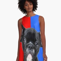 'FRENCH BULLDOG' A-Line Dress by IMPACTEES
