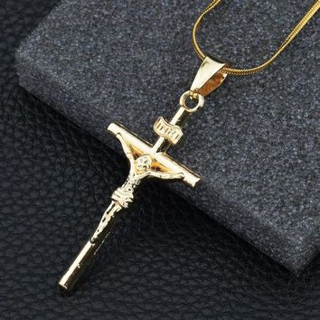 Jewelry Stylish Shiny Gift New Arrival Alloy Cross Rack Necklace [10768847171]