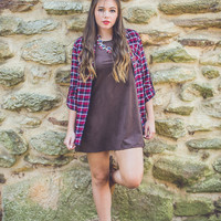 Festival Ready Flannel in Burgundy and White
