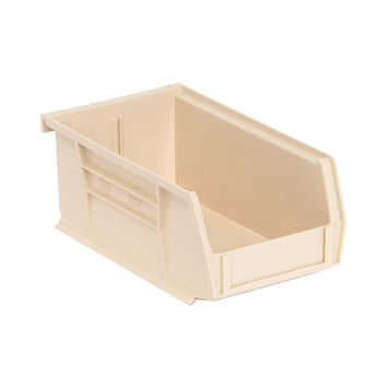 Quantum Storage Systems Ultra Stack And Hang Bin 7-3/8Lx 4-1/8Wx 3H - Ivory Pack Of 24