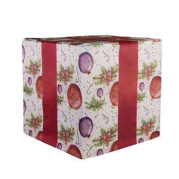 Christmas Gift Wooden Cube Cover Photography Prop - CUBE5