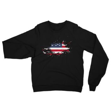 United States Splatter of paint 2018 California Fleece Raglan Sweatshirt