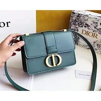 Dior Fashion versatile casual buckle flip small square bag shoulder bag Messenger bag