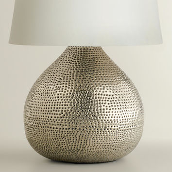 Pewter Prema Punched Metal Table Lamp Base - World Market