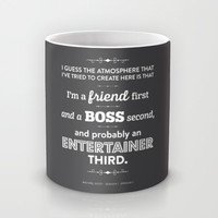 The Office Michael Scott Quote Season 1 Episode 1 - Friend First - Charcoal & White Mug by Noonday Design