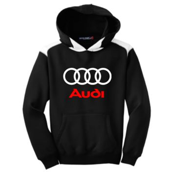 Audi Youth Colorblock Hooded Pulovers