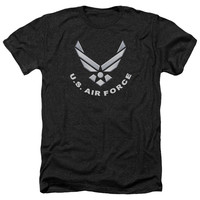 AIR FORCE/LOGO-ADULT HEATHER-BLACK