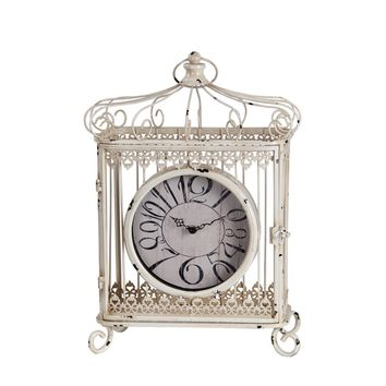 Privilege Iron Scroll Bird Cage Design Table Clock | Overstock.com Shopping - The Best Deals on Clocks