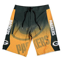 KLEW NFL Green Bay Packers Gradient Board Shorts, Small, Green