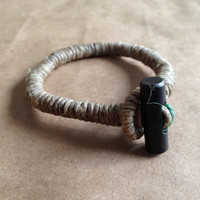FIRESTARTER Bracelet: Jute, Waxed Hemp & Firesteel Toggle