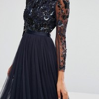 Needle & Thread Embellished Butterfly Gown at asos.com