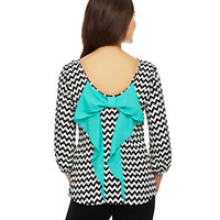 Moa Moa Bow-Back Chevron Top