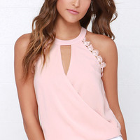 Poetic Performance Blush Lace Top