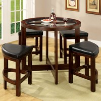 Nellie Contemporary 5-Piece Counter Height Table Set