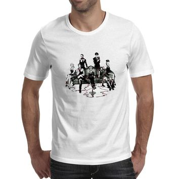 Psycho Pass Dudes T Shirt Cyberpunk Anime Creative Print Fashion T-shirt Punk Casual Skate White Short Sleeve O-neck Unisex Tee
