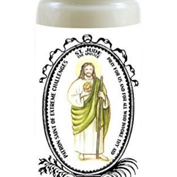 Saint Jude Apostle Patron of Extreme Challenges 8 Ounce Scented Soy Prayer Candle