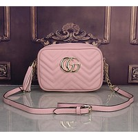 Gucci Women Leather Shoulder Bag Crossbody Satchel
