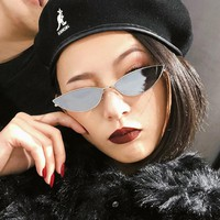 Retro Cat Eye Sunglasses Yellow Red Lens Small Triangle Fashion Light Weight Sunglasses for Women Men Vintage Metal Eyewear