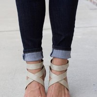 Chic This Way Heel: Stone