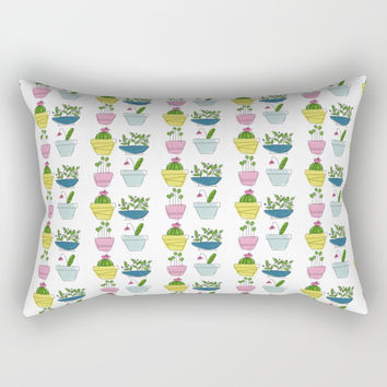 Little Potted Plants Rectangular Pillow by Inspire Your Art