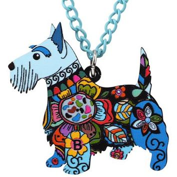 Necklace Aberdeen Scottish Terrier Dog Pendant Chain Collar Choker Pendant  Animal Fashion Jewelry For Women Girl New