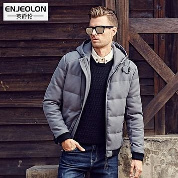 Cotton Padded Hooded Jacket Men Windproof Parka Men Clothing Zipper Thick Quilted Coat Hoodies