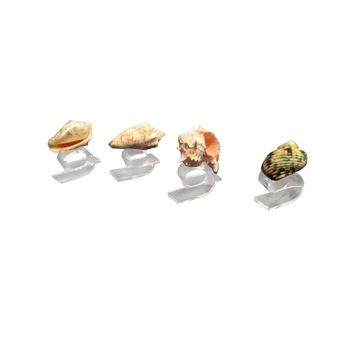 Pre-owned Lucite Napkin Rings Sea Shells Thorpe - Set of 4