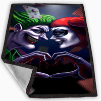 Harley Quinn And Joker Love Blanket for Kids Blanket, Fleece Blanket Cute and Awesome Blanket for your bedding, Blanket fleece *