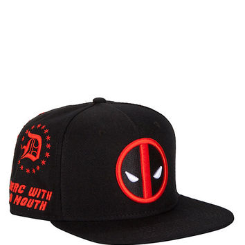 Marvel Deadpool Allover Embroidered Snapback Hat