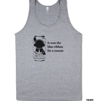 PBR | Heather Grey Tank | American Apparel | Blue Ribbon | Beer | Party | Beer Pong | Craft Beer | College | Hipster Beer | S/M/L/XL
