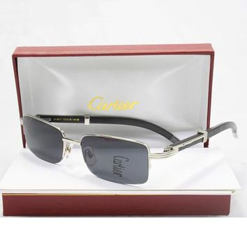 Cartier Women Popular Summer Sun Shades Eyeglasses Glasses Sunglasses-8