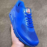 NIKE AIR MAX 90 2018 new spring summer flag logo men's air cushion sneakers F-AA-SDDSL-KHZHXMKH Blue