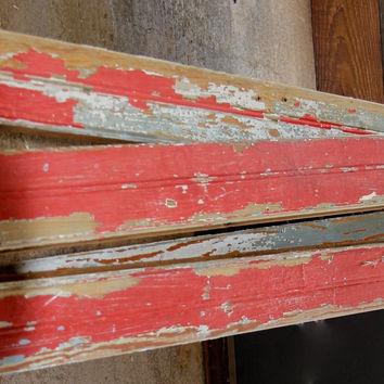 12 ft of Red Vintage Beadboard FREE SHIPPING