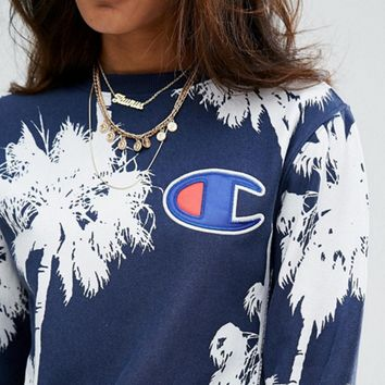 Champion Women's leisure loose collar sweater