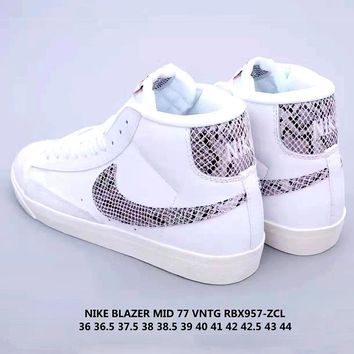 Free Shipping-Nike Blazer Mid 77 low-cut casual non-slip comfort shoes