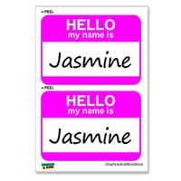 Jasmine Hello My Name Is - Sheet of 2 Stickers